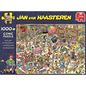 """Jumbo (19073) - Jan van Haasteren: """"The Toy Shop"""" - 1000 pièces"""