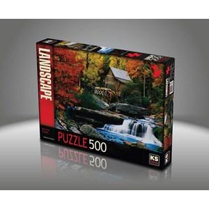 """KS Games (11336) - Katherine Hurtley: """"Autumn Chalet"""" - 500 pièces"""