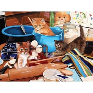 "SunsOut (67241) - Julie Bauknecht: ""Kittens in the Kitchen"" - 1000 pièces"