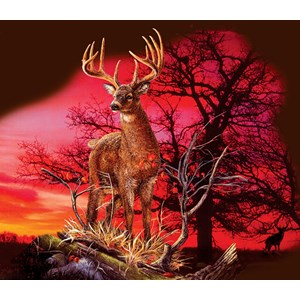 """SunsOut (50766) - Gordon Semmens: """"Red Sunset"""" - 550 pièces"""