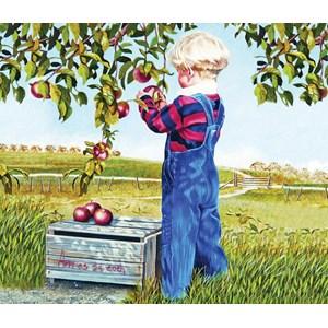"""SunsOut (26282) - Patricia Bourque: """"Apple Picking"""" - 550 pièces"""