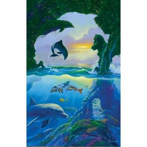 """SunsOut (75542) - Jim Warren: """"7 dolphins"""" - 1000 pièces"""