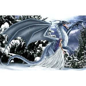 """SunsOut (67696) - Nene Thomas: """"Ice Dragon"""" - 1000 pièces"""