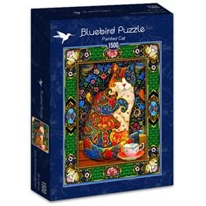 """Bluebird Puzzle (70152) - Lewis T. Johnson: """"Painted Cat"""" - 1500 pièces"""