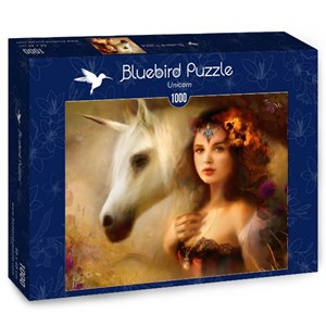 "Bluebird Puzzle (70158) - Bente Schlick: ""Unicorn"" - 1000 pièces"