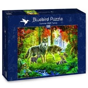 "Bluebird Puzzle (70156) - Jan Patrik Krasny: ""Summer Wolf Family"" - 1000 pièces"