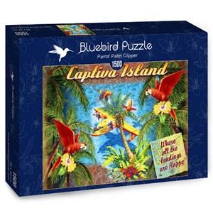 """Bluebird Puzzle (70104) - James Mazzotta: """"Parrot Palm Clipper"""" - 1500 pièces"""
