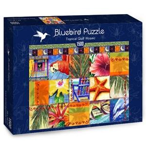 """Bluebird Puzzle (70081) - James Mazzotta: """"Tropical Quilt Mosaic"""" - 1500 pièces"""