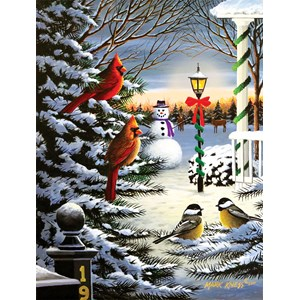 """SunsOut (60382) - Mark Kness: """"Holiday Friends"""" - 1000 pièces"""