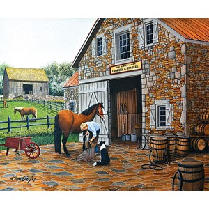 """SunsOut (60319) - Don Engler: """"Coppery and Stables"""" - 1000 pièces"""