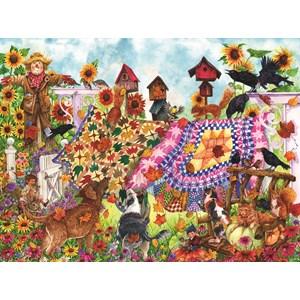 """SunsOut (20225) - Wendy Edelson: """"Autumn Garden Quilts"""" - 1000 pièces"""
