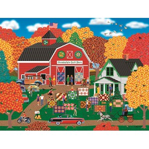 "SunsOut (22613) - Mark Frost: ""Annabelle's Quilt Barn"" - 1000 pièces"