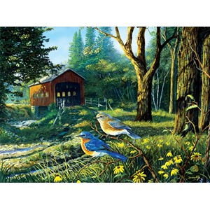 "SunsOut (71108) - Terry Doughty: ""Sleepy Hollow Blue Birds"" - 1000 pièces"