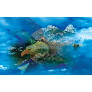 """SunsOut (50777) - Gordon Semmens: """"Eagle Dreamscape"""" - 550 pièces"""