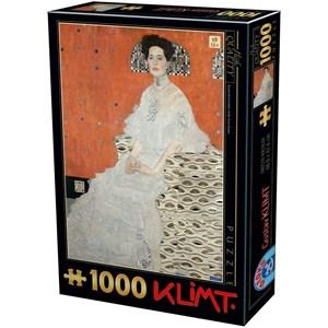 "D-Toys (76861) - Gustav Klimt: ""Fritza Riedler"" - 1000 pièces"