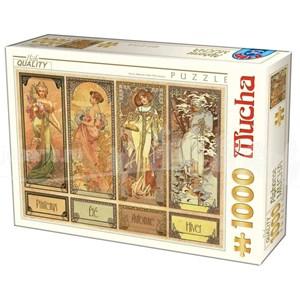 """D-Toys (75901) - Alphonse Mucha: """"Seasons"""" - 1000 pièces"""