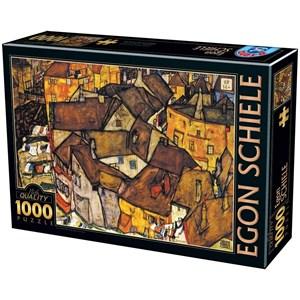 """D-Toys (76830) - Egon Schiele: """"Crescent Of Houses"""" - 1000 pièces"""