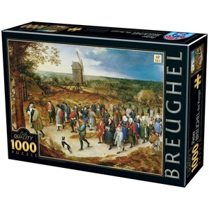 "D-Toys (76854) - Brueghel le Jeune: ""The Marriage Procession"" - 1000 pièces"