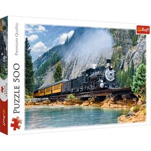 """Trefl (37379) - """"Train dans la Montagne"""" - 500 pièces"""