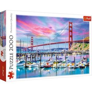 "Trefl (27097) - ""Golden Gate, San Francisco"" - 2000 pièces"
