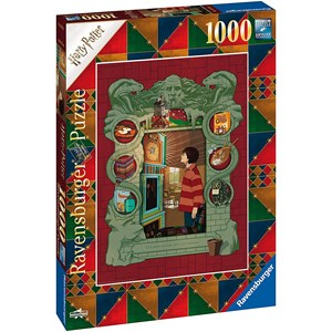 """Ravensburger (16516) - """"At Home with the Weasley Family"""" - 1000 pièces"""