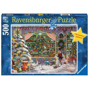 """Ravensburger (16534) - """"The Christmas Shop"""" - 500 pièces"""