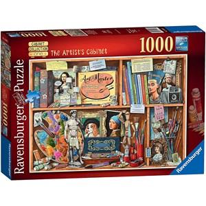 "Ravensburger (14997) - Geoffrey Tristram: ""The Artist Cabinet"" - 1000 pièces"