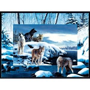 """SunsOut (55763) - Kevin Daniel: """"Ice Wolves"""" - 1000 pièces"""