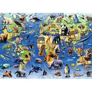 "Otter House Puzzle (73570) - ""Endangered Animals"" - 1000 pièces"