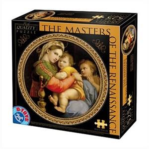 """D-Toys (69771) - Raphael: """"Madonna della Seggiola"""" - 525 pièces"""