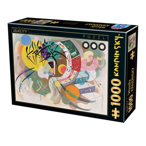 "D-Toys (75925) - Vassily Kandinsky: ""Dominant Curve"" - 1000 pièces"