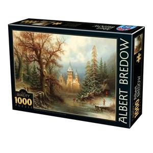 """D-Toys (75697) - Albert Bredow: """"Romantic Winter Landscape"""" - 1000 pièces"""