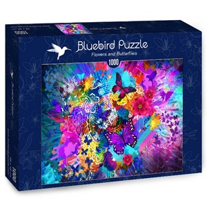 """Bluebird Puzzle (70219) - """"Flowers and Butterflies"""" - 1000 pièces"""