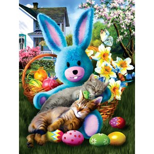 "SunsOut (28844) - Tom Wood: ""Easter Buddies"" - 500 pièces"