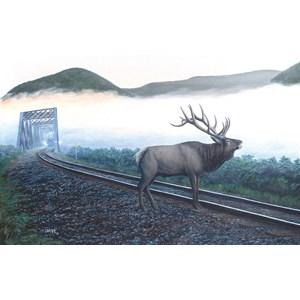 """SunsOut (48856) - Dan Christ: """"Elk Tracks"""" - 550 pièces"""
