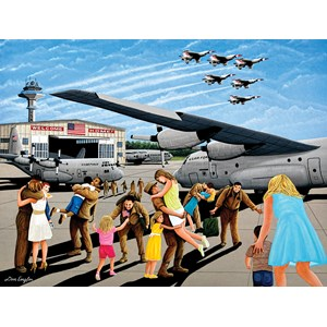 """SunsOut (60365) - Don Engler: """"Family Welcome"""" - 500 pièces"""