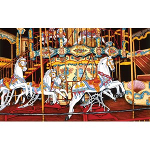 """SunsOut (62701) - Thelma Winter: """"Carousel at the Fair"""" - 550 pièces"""