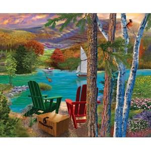 """SunsOut (31514) - Bigelow Illustrations: """"Lakeside View"""" - 1000 pièces"""