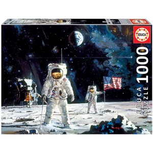 """Educa (18459) - Robert McCall: """"First Men on the Moon"""" - 1000 pièces"""