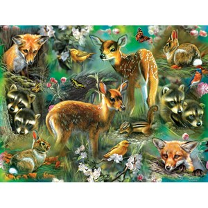 "SunsOut (68022) - Rebecca Latham: ""Forest Critters"" - 500 pièces"
