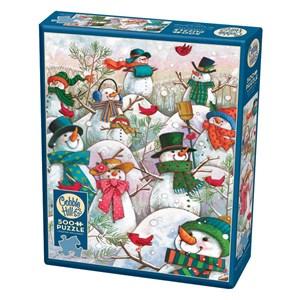 "Cobble Hill (85081) - Janet Stever: ""Hill of a Lot of Snowmen"" - 500 pièces"
