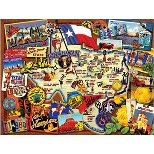 "SunsOut (70024) - Kate Ward Thacker: ""Texas, The Lone Star State"" - 500 pièces"