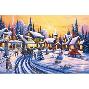 """SunsOut (51359) - Geno Peoples: """"A Winter Story"""" - 550 pièces"""