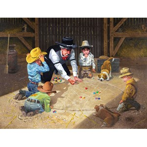 """SunsOut (36013) - Don Crook: """"Only Game in Town"""" - 500 pièces"""