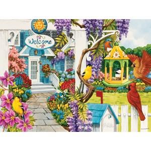 """SunsOut (62939) - Nancy Wernersbach: """"Wisteria Cottage"""" - 1000 pièces"""