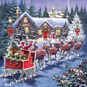 "Otter House Puzzle (74142) - ""Santa's Sleigh"" - 1000 pièces"