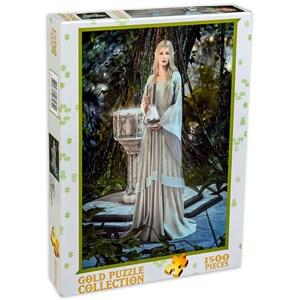 """Gold Puzzle (61642) - """"Reine des Elfes"""" - 1500 pièces"""