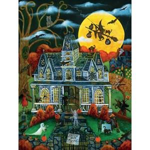 """SunsOut (54782) - Cheryl Bartley: """"Halloween Potions and Tricks"""" - 500 pièces"""