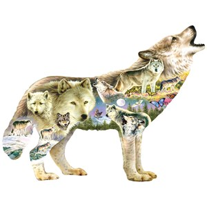 """SunsOut (96038) - Greg Giordano: """"Meadow Wolf"""" - 750 pièces"""