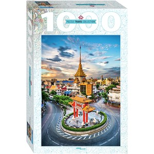 """Step Puzzle (79148) - """"Chinatown in Bangkok, Thailand"""" - 1000 pièces"""